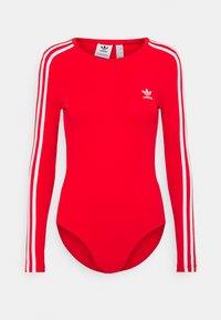 adidas Originals - ORIGINALS ADICOLOR BODYWEAR SUIT FITTED - Long sleeved top - red - 4