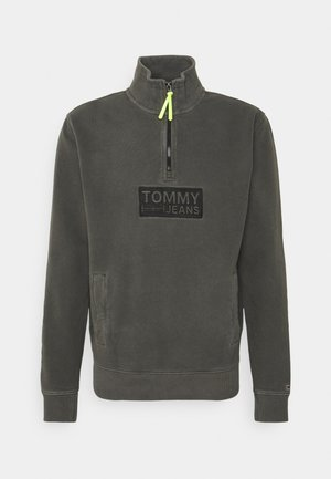 TONAL LOGO ZIP MOCK UNISEX - Sweater - black