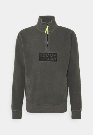 TONAL LOGO ZIP MOCK UNISEX - Sweatshirt - black