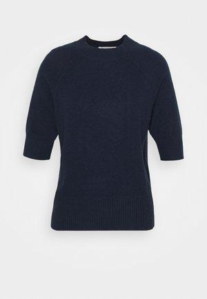 TEXTURED TEE - Jednoduché triko - dark blue
