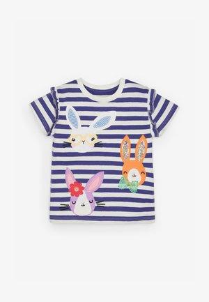 BUNNY  - Print T-shirt - blue