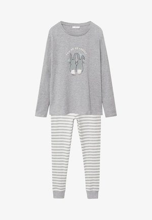 RABBIT - Pyjama set - jasnoszary