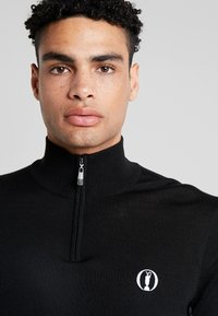 Lyle & Scott - THE OPEN RETRO 1/4 ZIP ARGLE  - Jumper - true black/graphite