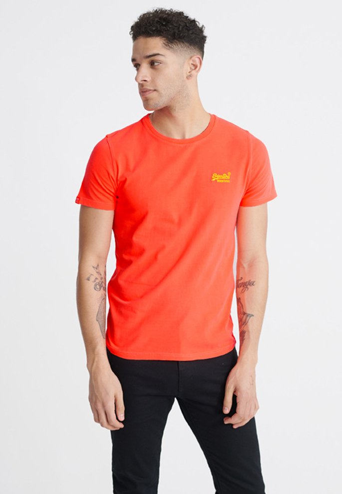 Superdry NEON LITE TEE - T-Shirt basic - optic/weiß IUvkVP