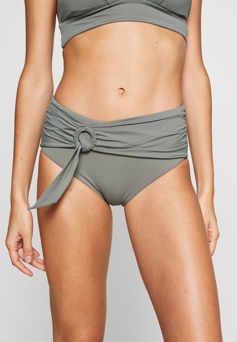 Seafolly - ACTIVEWIDE SIDE RETRO - Bikini bottoms - olive leaf