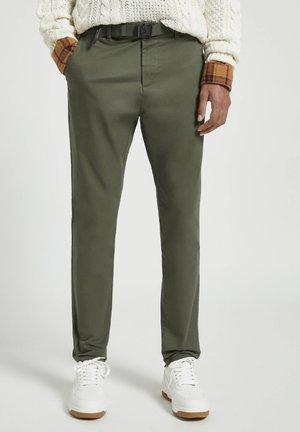 Chino kalhoty - mottled green