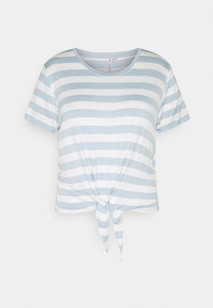 CARARLY KNOT  - Print T-shirt - cashmere blue/cloud