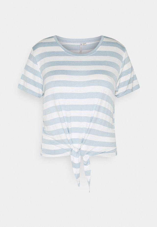 CARARLY KNOT  - Camiseta estampada - cashmere blue/cloud