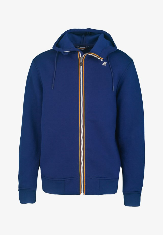 Zip-up hoodie - blue depths