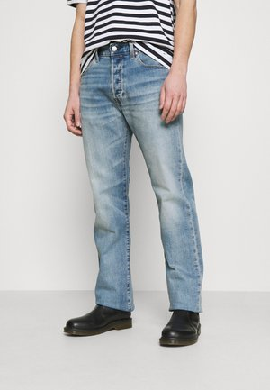 501 ORIGINAL FIT UNISEX - Jeans a sigaretta - med indigo worn in