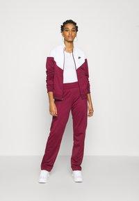 Nike Sportswear - TRACK SUIT SET - Tracksuit - dark beetroot/white - 1