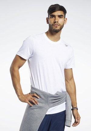 TRAINING ESSENTIALS CLASSIC TEE - Camiseta básica - white