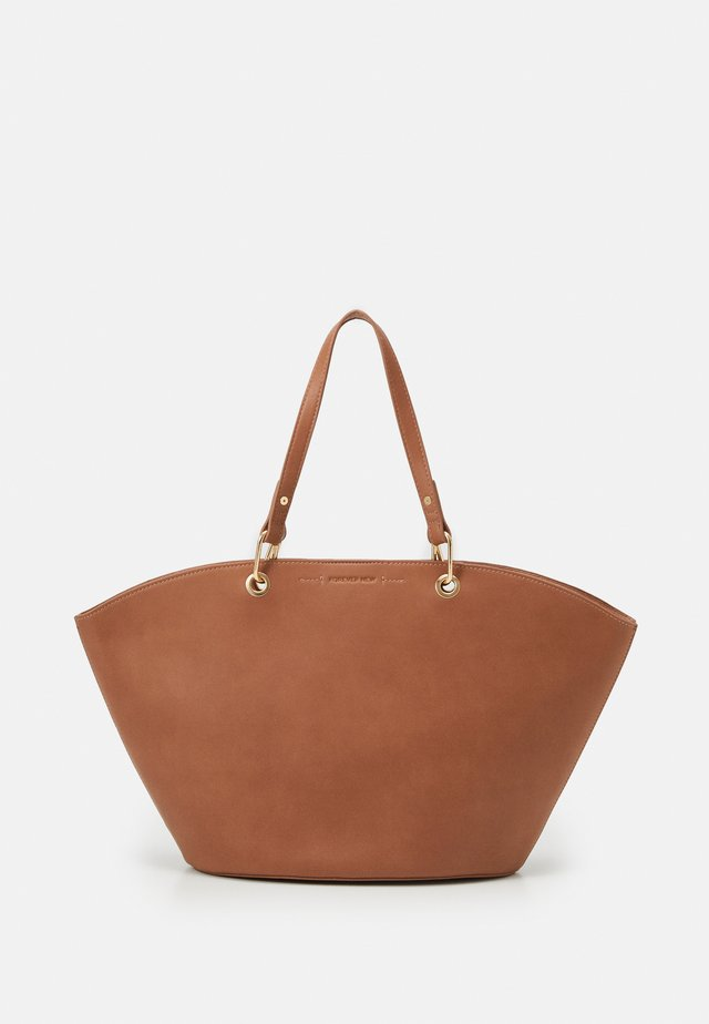 CASSIE CURVED TOP TOTE BAG SET - Kabelka - tan