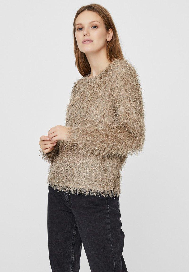 Vero Moda - Blus - silver mink