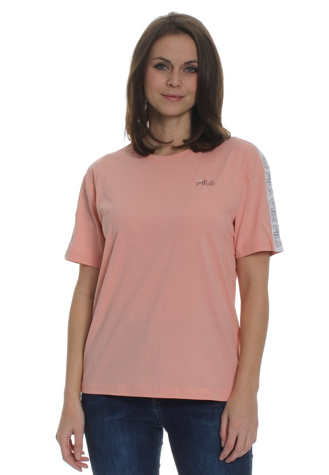 JAKENA  - T-shirt con stampa - coral cloud