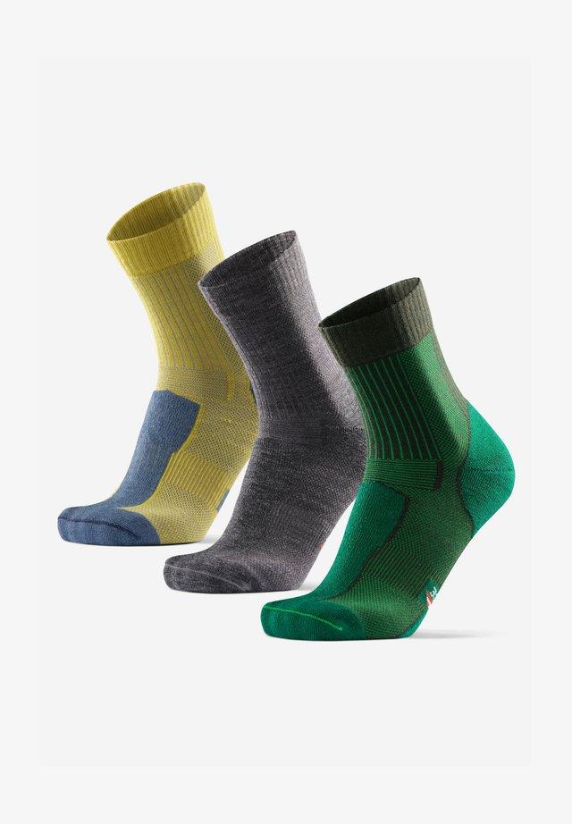 3 PACK - Strumpor - multicolor  green grey yellow