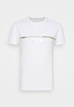 SEASONAL MONOGRAM TEE UNISEX - Camiseta estampada - bright white
