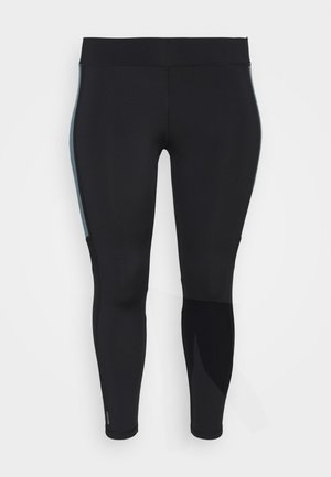 ONPSULA 7/8 TRAINING CURVY - Legging - black/goblin blue