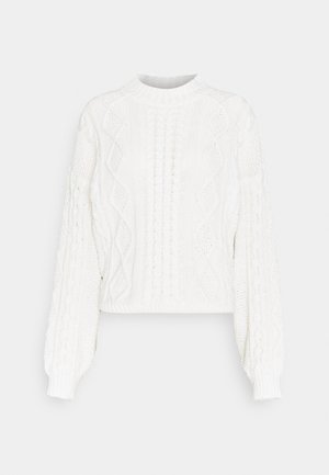 MIRIAM SWEATER - Strikkegenser - warm white