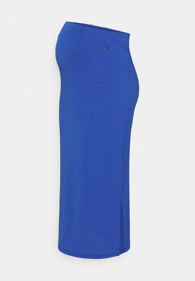 SKIRT CRINCLE - Jupe crayon - mazarine blue