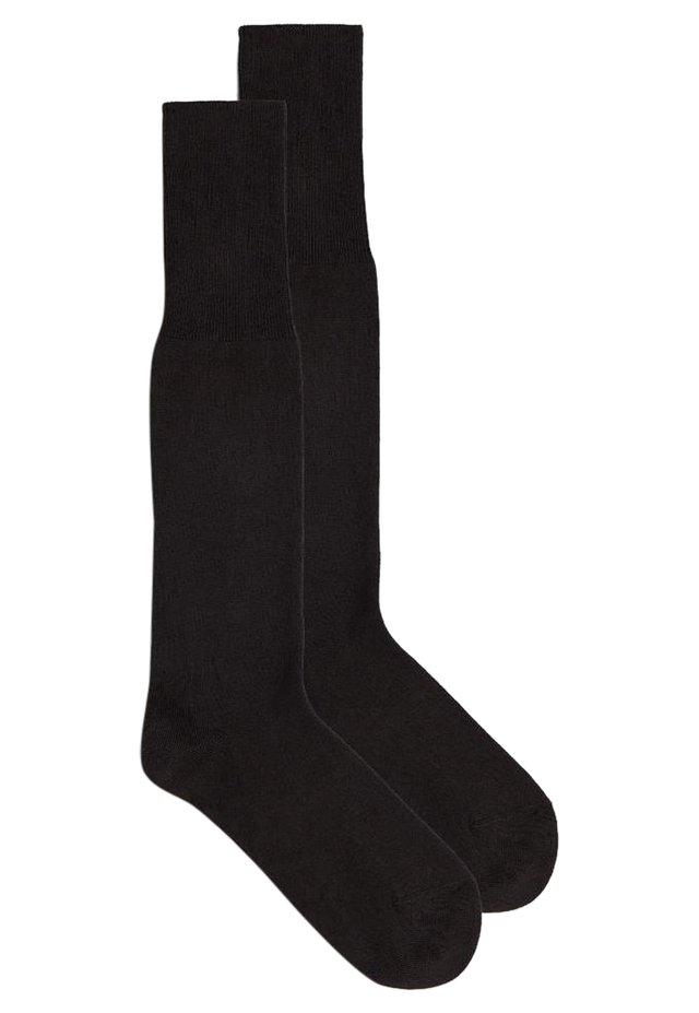 LANGE STRÜMPFE AUS WARME BAUMWOLLE - Knee high socks - marrone