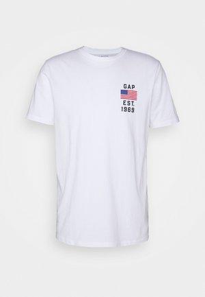 LOGO FLAG - Print T-shirt - optic white