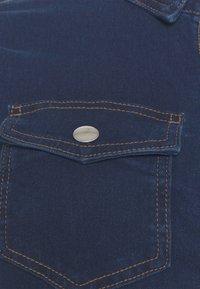 Pieces Curve - PCSILIA DRESS - Denim dress - dark blue denim - 6