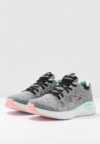 Skechers Sport - SOLAR FUSE - Trainers - gray/black/pink/mint - 4