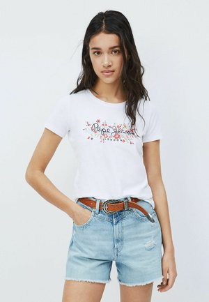 Print T-shirt - blanco off
