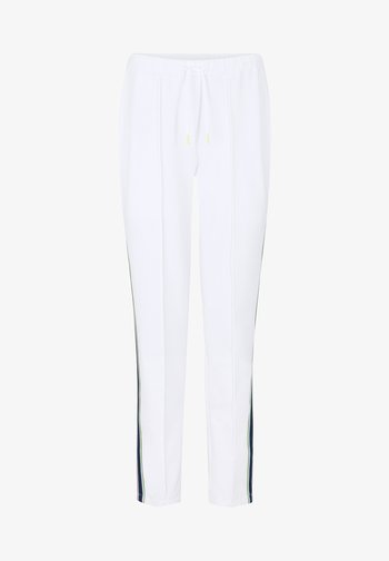 THEA - Tracksuit bottoms - weiß