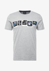 PS Paul Smith - SLIM FIT PHOTOS - Print T-shirt - grey