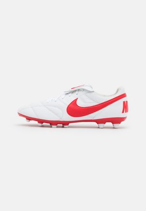 PREMIER II FG - Moulded stud football boots - white/university red