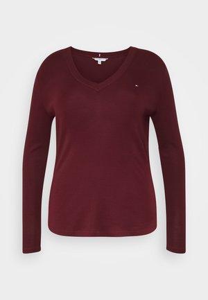 SLIM COSY - Long sleeved top - deep rouge
