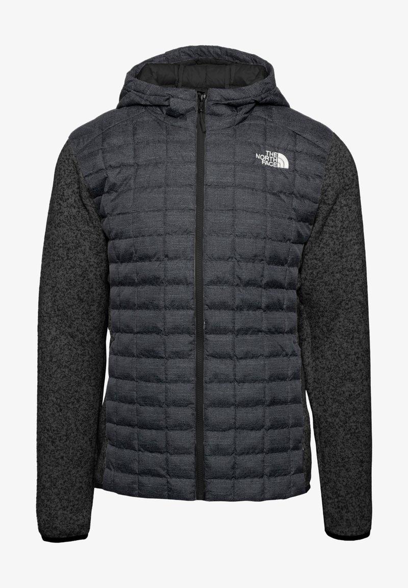 The North Face - M THERMOBALL GORDON LYONS HOODIE - Kurtka Outdoor - tnf black-graphite grey-tnf dark grey heather