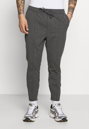 PAULIE SMART JOGGERS - Tygbyxor - charcoal check