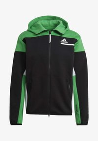 adidas Performance - Z.N.E HOODIE PRIMEGREEN HOODED TRACK TOP - Zip-up hoodie - black - 6