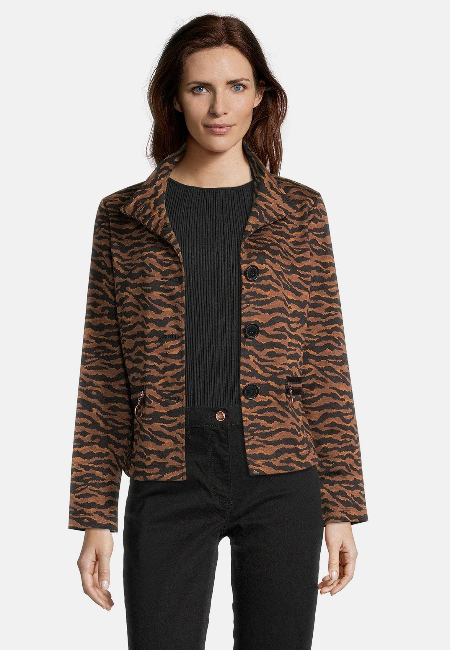 Betty Barclay MIT STEHKRAGEN - Blazer - schwarz/braun | Damenbekleidung billig