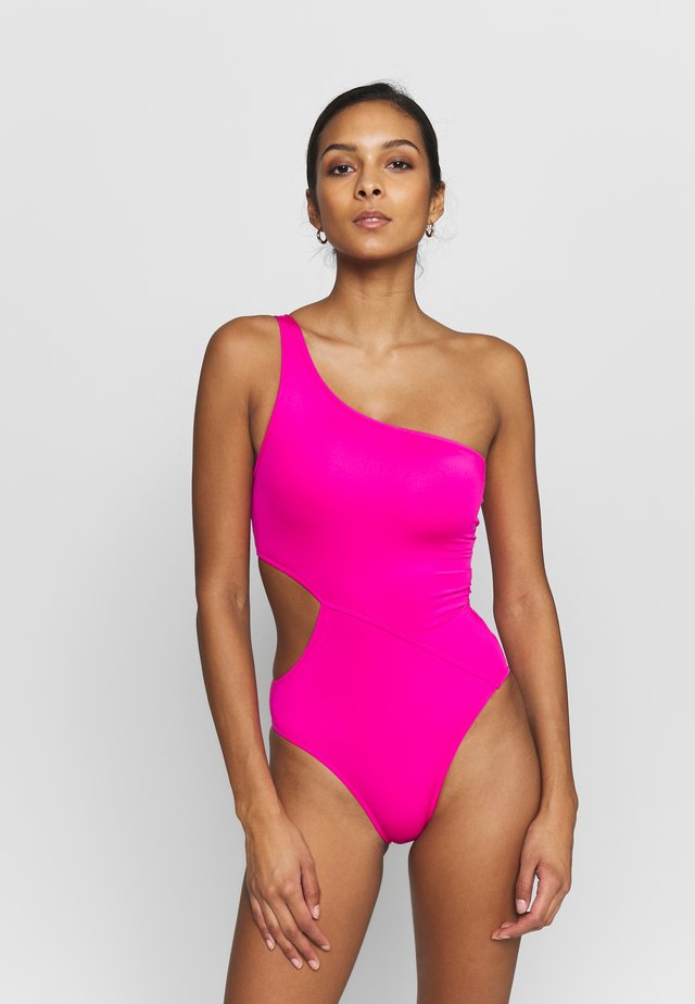ACTIVE ONE SHOULDER MAILLOT - Bañador - ultra pink