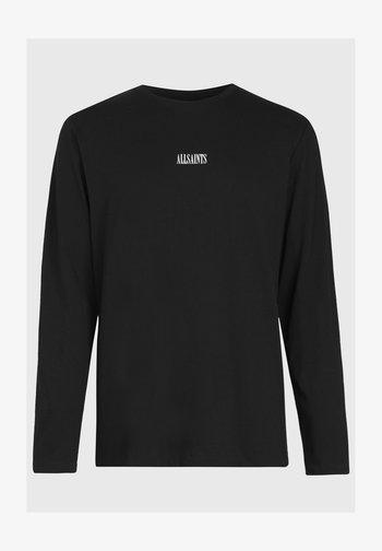 STATE LS CREW - Print T-shirt - black