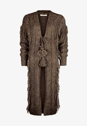LONG KNITTED - Cardigan - brown