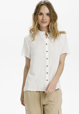 Button-down blouse - chalk