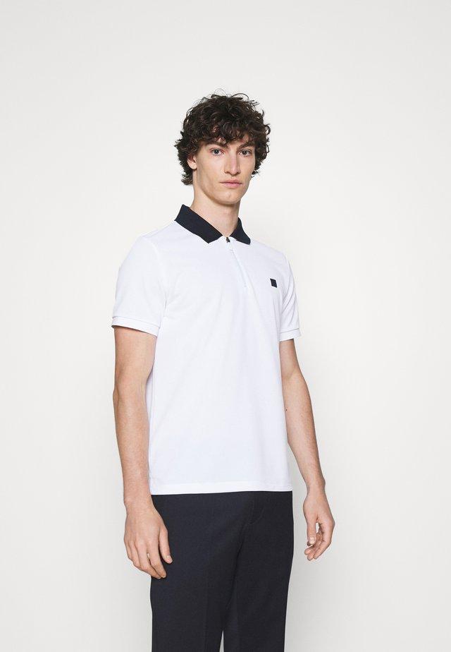 HALF ZIP SPORT - Poloshirt - white