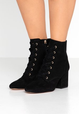 LACE UP MAYA - Lace-up ankle boots - black