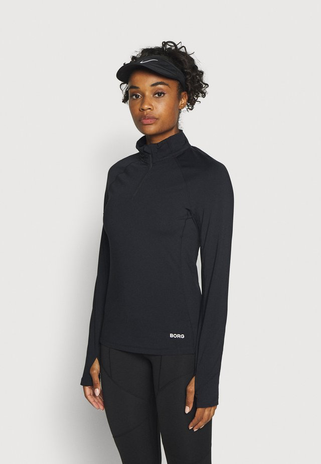 CARIN HALF ZIP - Longsleeve - black beauty