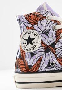 Converse - CHUCK TAYLOR ALL STAR - Korkeavartiset tennarit - egret/orange/light blue - 2