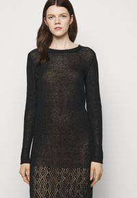 Trussardi - Pletené šaty - black - 3