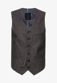 Shelby & Sons - PERRY WAISTCOAT - Chaleco - dark brown - 3