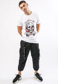 Ed Hardy - DEATH-STUD T-SHIRT - Print T-shirt - white - 1