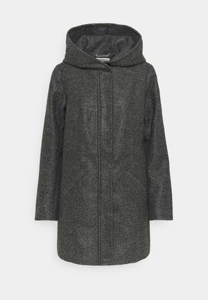 JDYTASHA HOOD JACKET  - Zimní kabát - dark grey melange