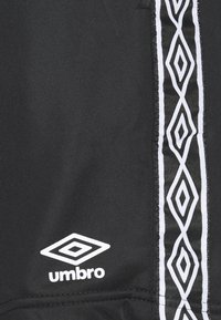 Umbro - ACTIVE STYLE TAPED TRICOT SHORT - Sports shorts - black/white - 2